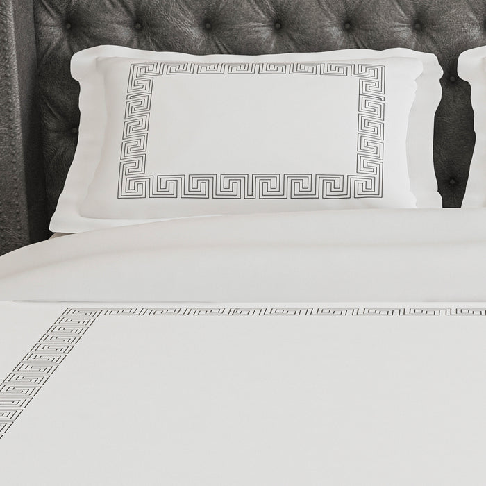 500 Thread Count Embroidered Egyptian Cotton Amorgos Duvet Cover Set