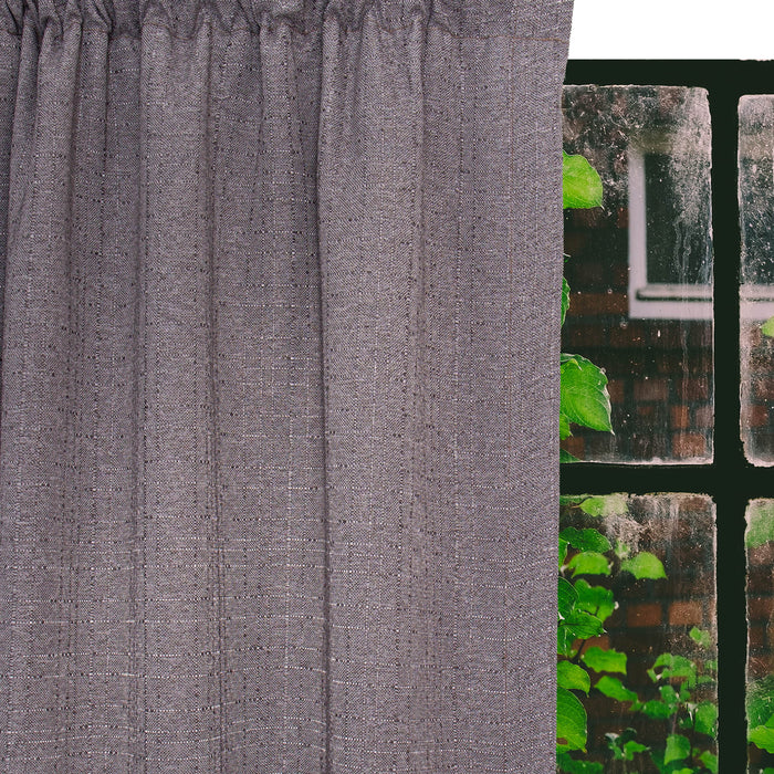 Britannia Self-lined Dim Out Taped Graphite Curtain