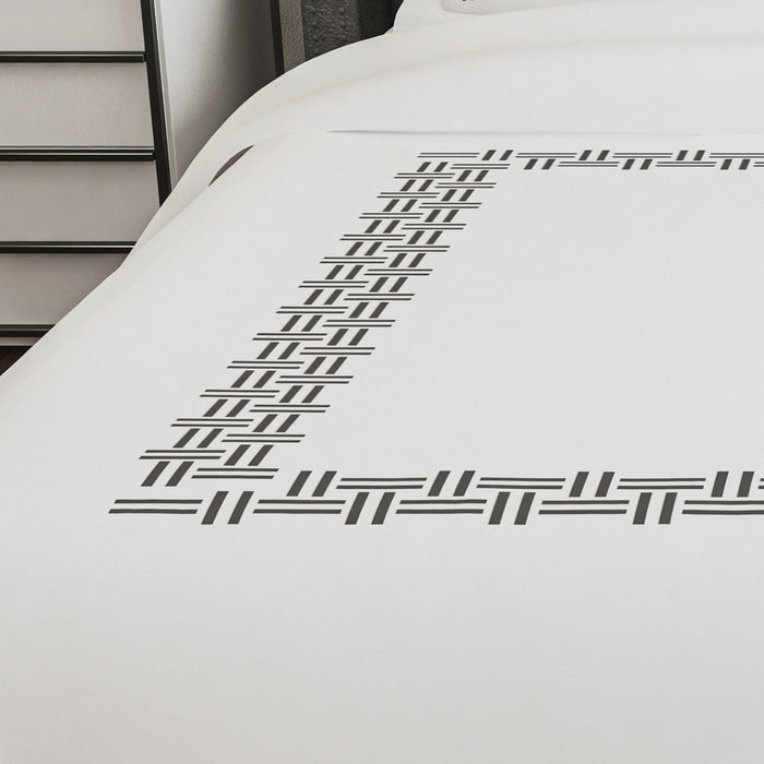 500 Thread Count Embroidered Egyptian Cotton Corfu Duvet Cover Set