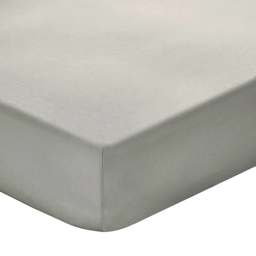 200 Thread Count 100% Cotton Light Grey Fitted sheet