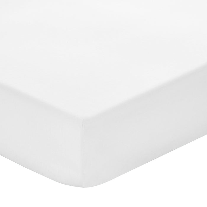 200 Thread Count 100% Cotton White Fitted sheet