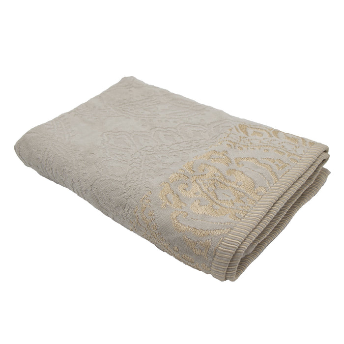Cotton Bay Jacquard Border Bath Sheet