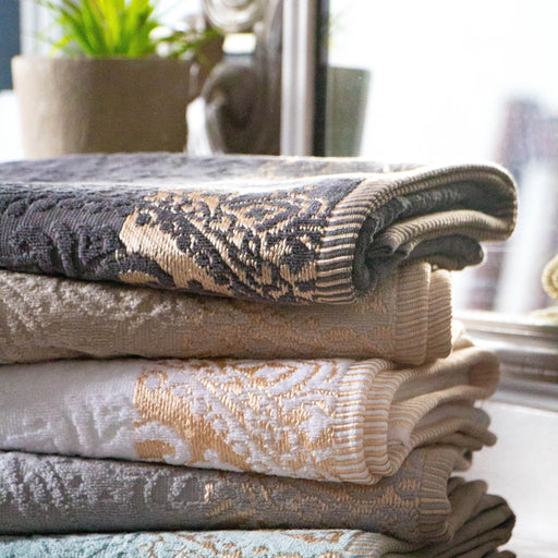 Cotton Bay Jacquard Border Guest Towel (30 x 50cm) - SELECT 2 FOR R60 or R39 each