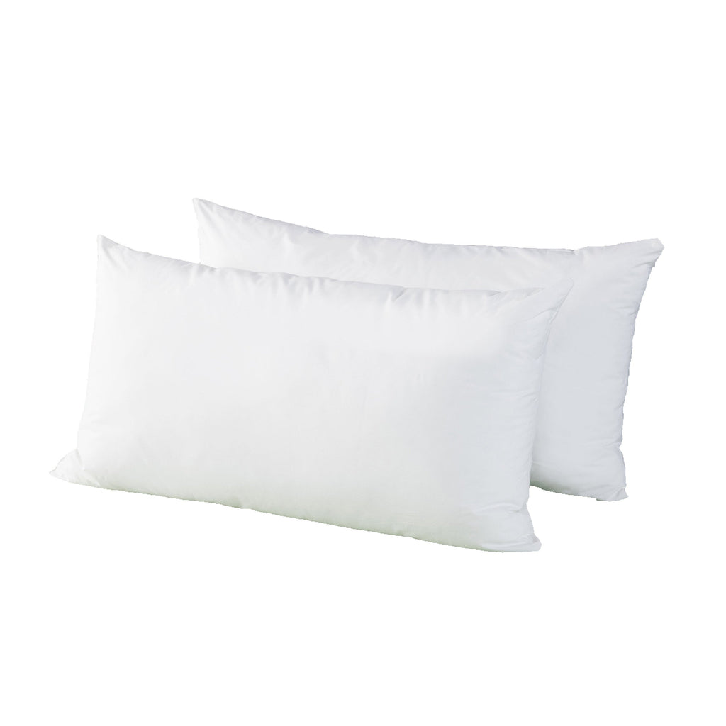 Deluxe Twin Pack Pillows (Downproof Casing & Microfibre Fill)