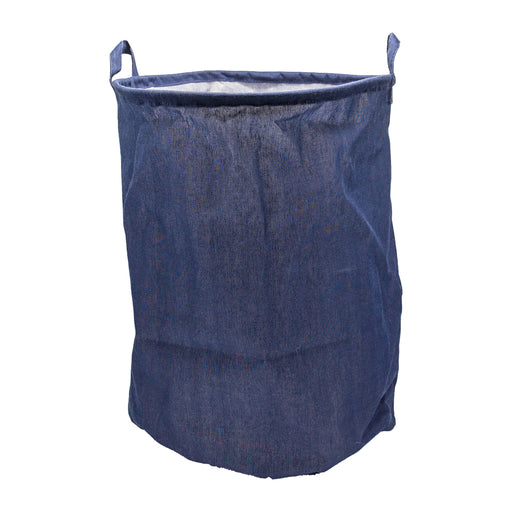 Plain Navy Laundry Basket