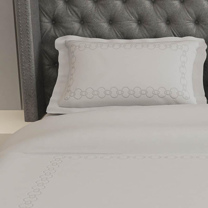 500 Thread Count Embroidered Egyptian Cotton Santorini Duvet Cover Set