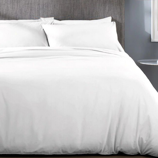 200 Thread Count Cotton Rich Percale White Duvet Cover Set