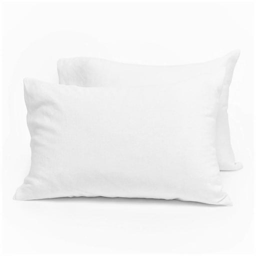400 Thread Count Sateen Egyptian Cotton White Pillowcase Pair