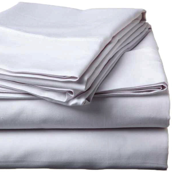 500 Thread Count Sateen Egyptian Cotton Silver Fitted Sheet