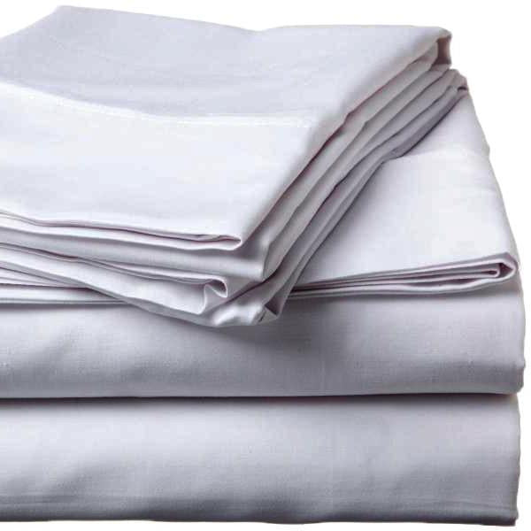 500 Thread Count Sateen Egyptian Cotton Silver Flat Sheet