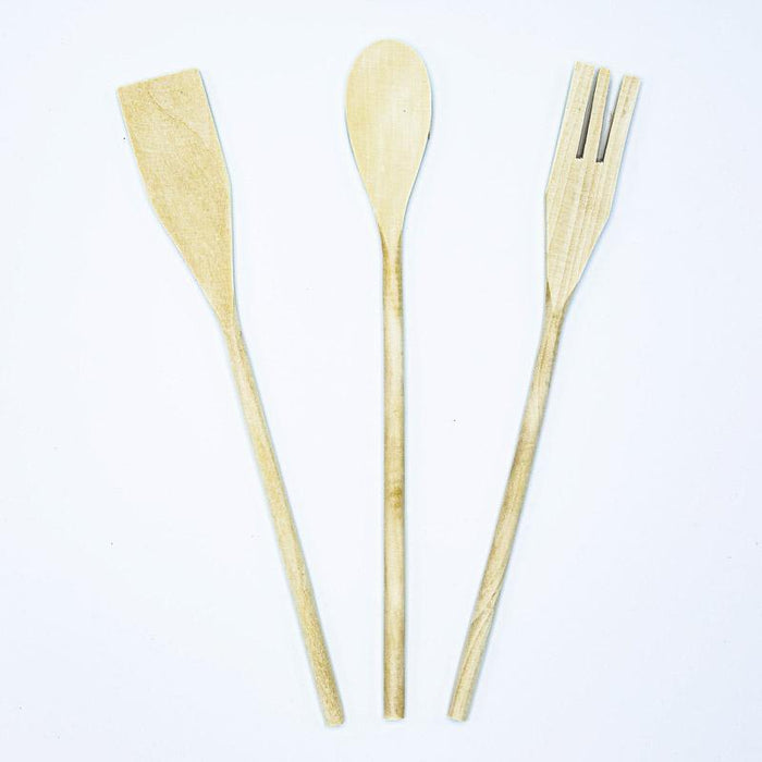 Three Piece Bamboo Kitchen Utensil Set - small