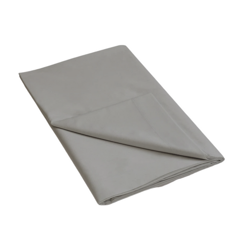 144 Thread Count Polycotton Grey Flat Sheet