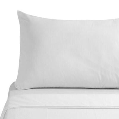 300 Thread Count Egyptian Cotton Percale White Pillowcase