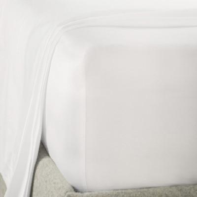 Poly Cotton Fitted Sheet White