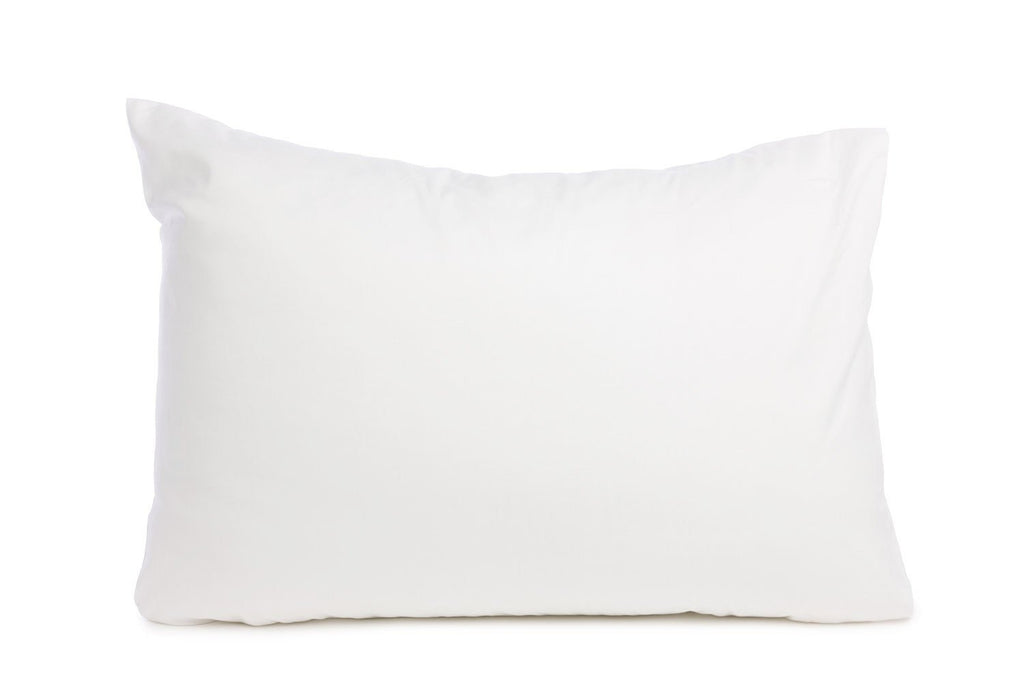 144 Thread Count Polycotton White Pillowcases