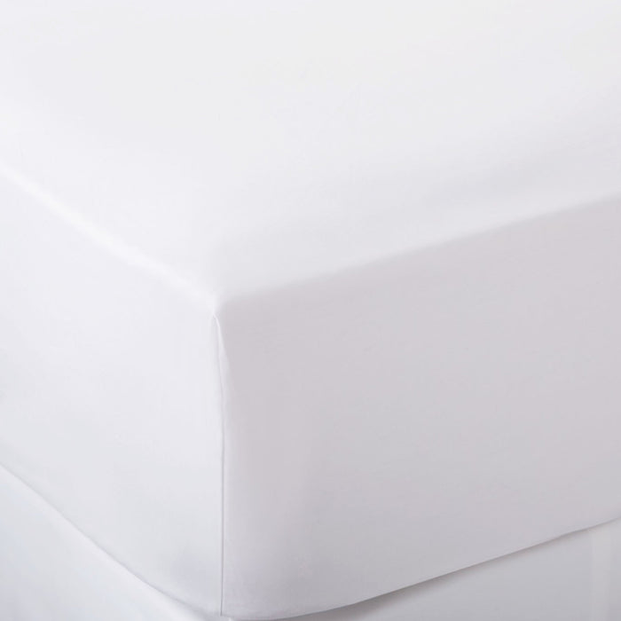 300 Thread Count White Fitted Sheet