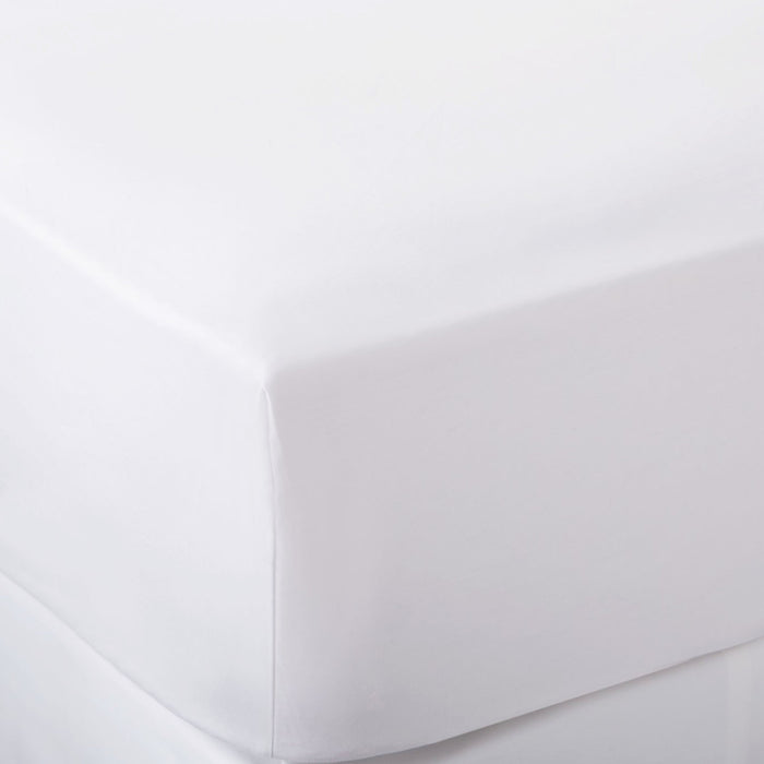 200 Thread Count Cotton Rich Percale Fitted Sheet