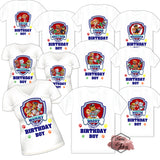 INSTANT DOWNLOAD-IRON-ON TRANSFER-Set of 10 Family-Friend Members PAW PATROL Inspired Theme IRON ON Transfers- Birthday BOY PAW PATROL Party T-Shirt prints