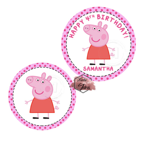 Custom Order for  Gill-Peppa Pig Tags
