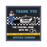 Custom Police Theme Party Printable Invitation with FREE Thank you Tag-DIY Digital File- Police Officer Birthday Invitation -You Print