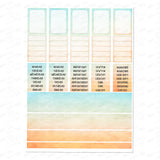 Printable Planner stickers- 300dpi -Sunset Theme  Planner Stickers-You Print-Digital files