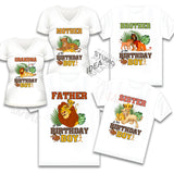 INSTANT DOWNLOAD-SIMBA IRON-ON TRANSFER-Set of 10 Family-Friend Members SIMBA LION KING Inspired Theme IRON ON Transfers- Birthday BOY SIMBA Party T-Shirt prints