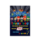 Custom Superheroes Party Printable Invitation with FREE Thank you Card-DIY Digital File-Superheroes Birthday Invitation -You Print