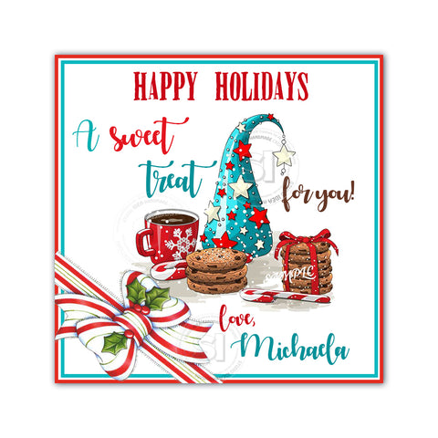 "Custom Christmas Printable 2.5'' Tags-Christmas sweets- Christmas Wishes Personalized Tags-DIY (You Print) 2.5"" tags-Digital File"