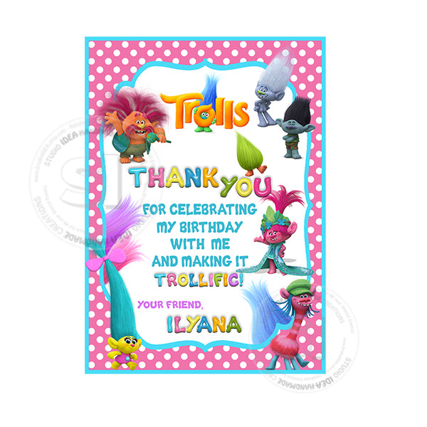 Free Blessed Birthday Email Personalized Cards Online Customised Invitation Custom Trolls With FREE Thank You Card