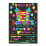 Bounce Party Printable Invitation with FREE Thank you Tag-DIY Digital File-Customized Bounce Birthday Invitation -You Print