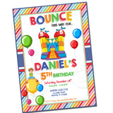 Custom Bounce Party Printable Invitation with FREE Thank you Tag-DIY Digital File-Customized Bounce Birthday Invitation -You Print