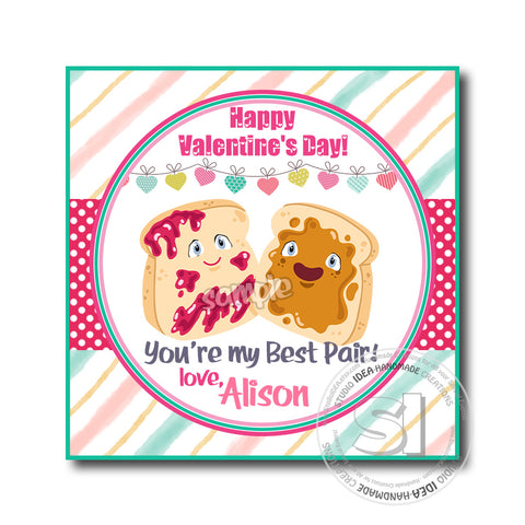 "Valentine's day Custom Printable Tags- 2.5"" Tags-Happy Valentine's Day Personalized 2.5 inches Tags- Stickers DIY Favor Tags-Funny Valentines tags"