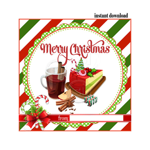 picture about Merry Christmas Printable known as Instantaneous Obtain- Merry Xmas Printable 2.5\