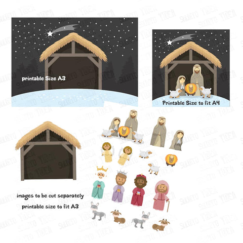 Custom Order for  Gill - Christmas Nativity Scene & Characters