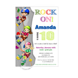 Climbing Birthday Party Printable Invitation with FREE Thank you Card-DIY Digital File-Climbing Rock Birthday Party Invite -You Print