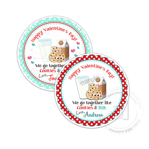 "Valentine's day Custom Printable Tags- 2.5"" Tags-Happy Valentine's Day Personalized 2.5 inches Tags- Stickers DIY Favor Tags-cute Valentines tag"