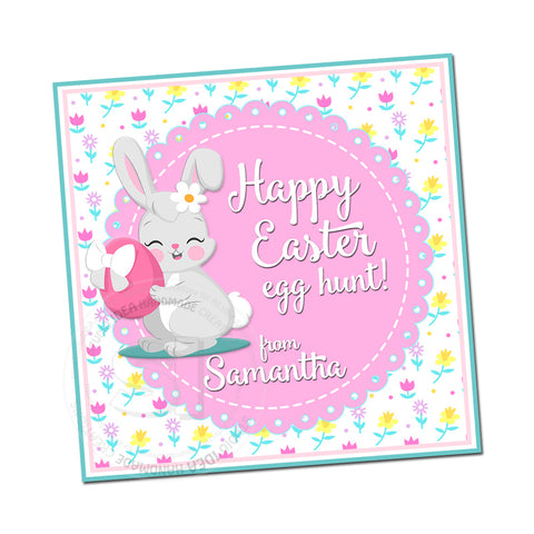 Easter Custom Printable 2.5'' Tags-Personalized Happy Easter 2.5 inches Tags- Party Favor DIY Stickers - Tags -Digital file