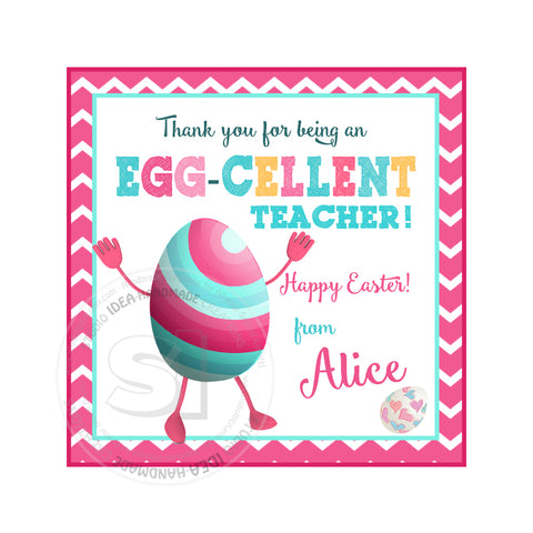 Easter Egg Custom Printable 2.5'' Tags-Personalized Happy Easter 2.5 inches Tags- Party Favor DIY Stickers - Tags -Digital file