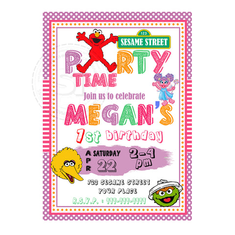 Custom Elmo Birthday Invitation With FREE Matching Thank You Card Printable And Friends