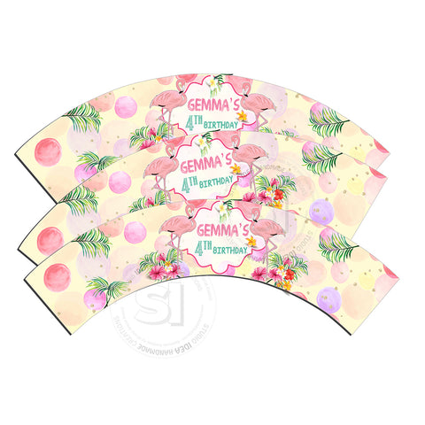 Flamingo Party Customized Printable Cupcake Wrappers - Personalized  Liners- YOU PRINT - Digital File