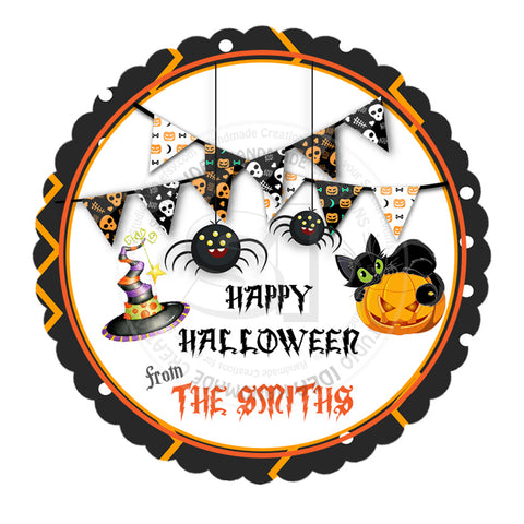 Halloween  Custom Printable 2.5'' Tags-Personalized Happy Halloween 2.5 inches Tags- Party Favor DIY Stickers - Tags -Digital file