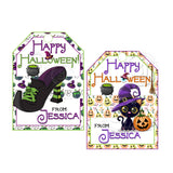 Halloween Custom Printable 2.5'' Tags-Personalized Witch Theme-Happy Halloween Rectangle 2.5 inches Tags- Party Favor DIY Stickers - Tags -Digital file
