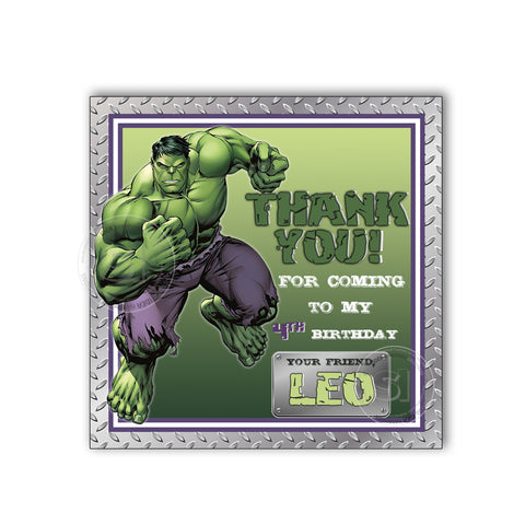 Hulk Birthday Party Printable Invitation With FREE Thank You Tag DIY Digital File The