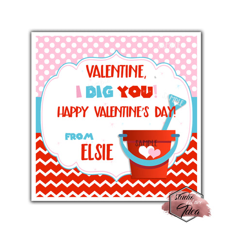 "Valentine's day Custom Printable Tags- 2.5"" Tags-Happy Valentine's Day Personalized 2.5 inches Tags- Stickers DIY Favor Tags"