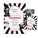 Magical Birthday Party Printable Invitation with FREE Thank you Tag-DIY Digital File-Girl Magical Birthday Invitation -You Print