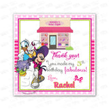 Minnie Mouse and Daisy Party Printable Invitation with FREE Thank you Tag-DIY Digital File- Minnie Bow-tique Birthday Invitation -You Print