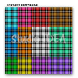 "12 Plaid Checkered Fabric Pattern Design 550- Digital Scrapbooking Paper 12""x12""- 300dpi- High Resolution Digital Design Paper- INSTANT DOWNLOAD"