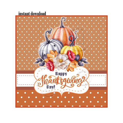 INSTANT DOWNLOAD-Thanksgiving Printable 2.5'' Tags-Pumpkins Happy Thanksgiving 2.5 inches Tags- Party Favor DIY Stickers - Tags -Digital file