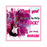 Custom Rock Star Birthday Party Invitation with FREE matching Thank you Square Tag- Printable Invitations-Personalized Birthday, Baby Shower-Digital File-YOU PRINT