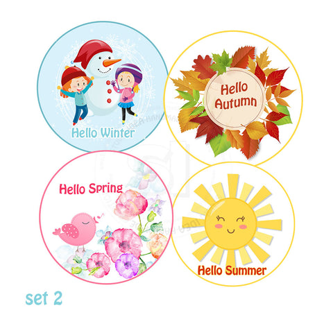 Custom Order for  Gill - 4 Seasons tags